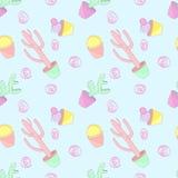 Wzorów barwioni kaktusy Obraz Royalty Free