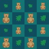 Wzorów niedźwiedzie ilustracja wektor