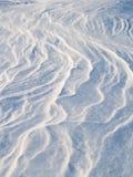 wzorów śniegu wiatr Obraz Royalty Free