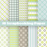 Wzorów papiery dla scrapbook Fotografia Stock