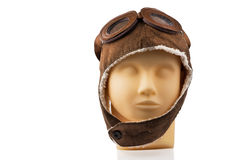 Wzorcowa mannequin głowa z pilotową nakrętką Zdjęcia Royalty Free