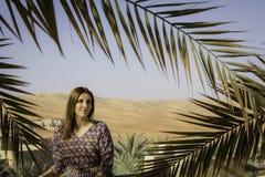 Wzorcowy Anna w Pustynnej oazie Zdjęcia Stock
