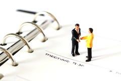 Wzorcowy biznes oblicza dzienniczek E Obrazy Stock