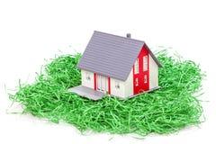Wzorcowy dom na zielonej trawie Zdjęcia Stock