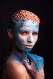 Wzorcowy dziewczyna portret z kolorowym uzupełniał Zdjęcia Stock