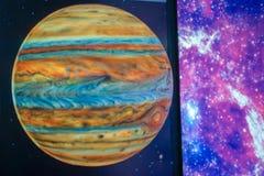 Wzorcowy Jupiter, naukowi pojęcia gwiazdy Obrazy Royalty Free