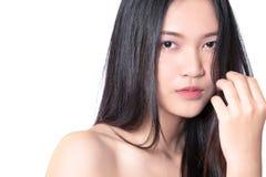 Wzorcowy mienie i wzruszający włosy obrazy stock