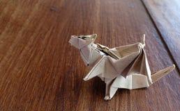 wzorcowy origami smok obraz stock