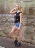 Wzorcowy przypadkowy - strzelający outdoors Fotografia Stock