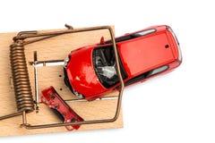 Wzorcowy samochód w mousetrap Fotografia Royalty Free