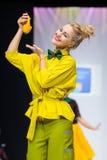 Wzorcowy spaceru pas startowy dla TEPLITSKAYA projekta wybiegu przy latem 2018 sezonów Moskwa mody tydzień Obraz Royalty Free