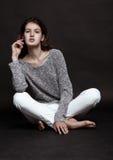 Wzorcowy test z piękny moda modela pozować Zdjęcie Stock