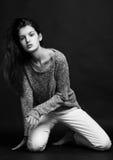 Wzorcowy test z piękny moda modela pozować Obraz Royalty Free