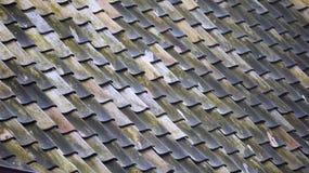 Wzoru, błękita i zieleni dach, Fotografia Royalty Free