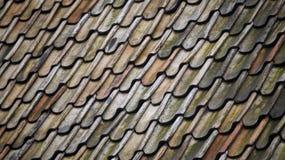 Wzoru, błękita i zieleni dach, Obraz Royalty Free