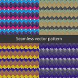 WZORU 16 wektoru Bezszwowy wzór z geometrycznymi kształtami ilustracji