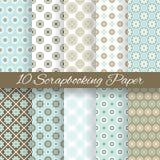 Wzorów papiery dla scrapbook (taflować). Obrazy Stock