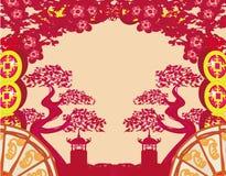 Wzory chińczyka krajobraz Zdjęcia Royalty Free