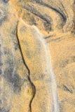 Wzory, dłubaczki w piasek diunach, pazy i wyspa, zdjęcia royalty free