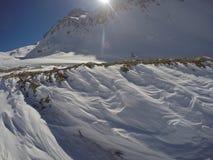 Wzory na śniegu Zdjęcia Royalty Free