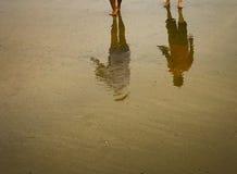 Wzory przy plażą zdjęcie stock