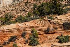 Wzory w piaskowcowych warstwach Zdjęcie Stock