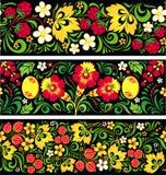 Wzory w rosjanina tradycyjnym stylu Hohloma Obraz Royalty Free