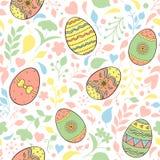 Wzory z Easter jajkami ilustracji