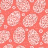 Wzory z kwiecistymi Easter jajkami ilustracji