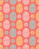 Wzory z kwiecistymi Easter jajkami ilustracja wektor