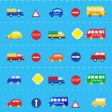 Wzory z samochodami Zdjęcie Royalty Free