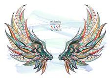 wzorzyści skrzydła ilustracji