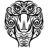 Wzorzysta barwiona głowa królewiątko kobra Obraz Stock