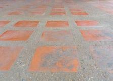 Wzorzyste brukowanie płytki, cementowy ceglany podłogowy tło Zdjęcie Royalty Free