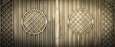 Wzorzyste metal bramy zdjęcie stock