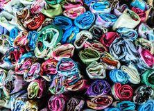 Wzorzyste tkaniny, Tajlandia tło obraz stock