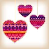 Wzorzystości miłości serca Zdjęcie Royalty Free