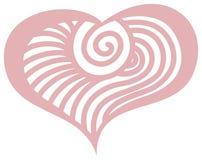 Wzorzystości różowy serce dla poślubiać Ilustracja Wektor