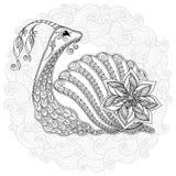 Wzór dla kolorystyki książki Ilustracja ślimaczek Fotografia Stock