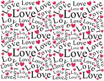 wzór tła miłości serc Obraz Royalty Free