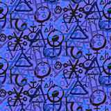 Wzór z alchemia symbolami Zdjęcia Stock