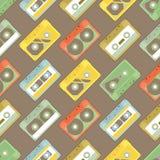 Wzór z kasetami - 2 Zdjęcia Stock