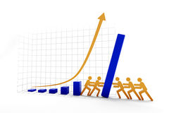 Wzrastać vs spada trend Zdjęcia Stock