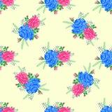 Wzrastał ślicznego bezszwowego pattern5-01 Zdjęcie Royalty Free