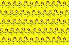 Wzrastał deseniowego tło Obrazków bezszwowi płatki z kwiatami ilustracji