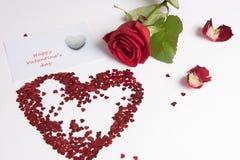 Wzrastał i serce serca gdy miłość znak Obraz Royalty Free