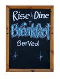 Wzrasta śniadanie słuzyć i je obiad Obraz Stock
