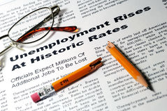wzrasta bezrobocie Obrazy Stock