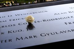 Wzrastał przy 9/11 pomnikiem Zdjęcie Stock