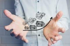 Wzrastający koszt domy, nieruchomości pojęcie zdjęcia royalty free